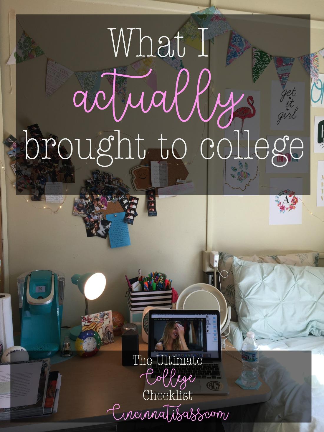 college checklist cover