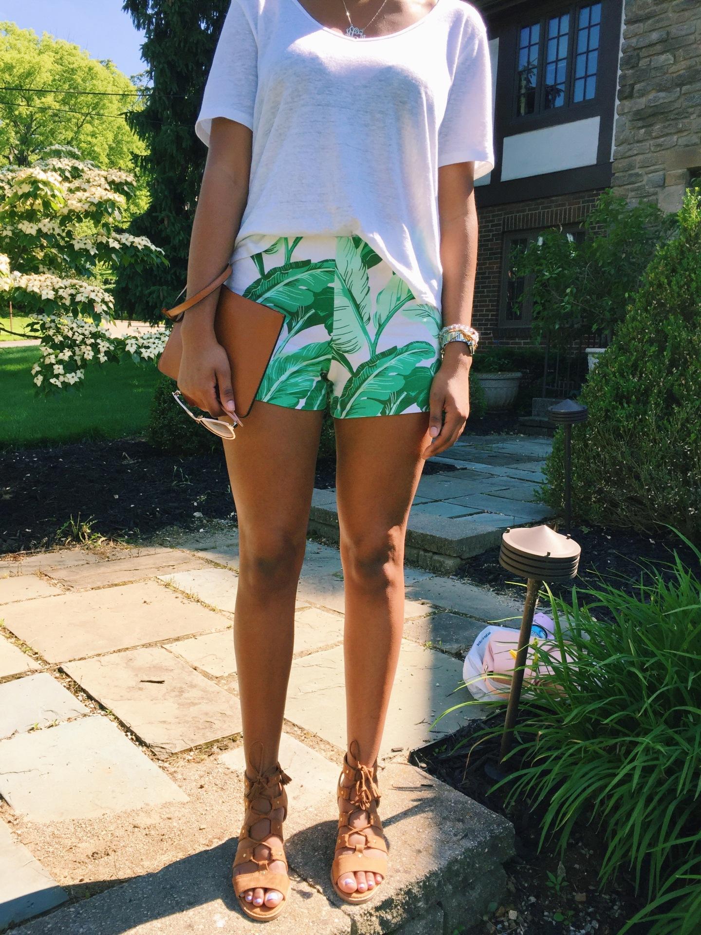 Leaf Print Shorts | Cincinnati Sass